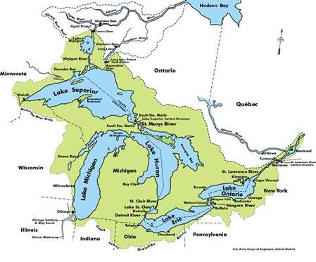 Great Lakes watersheds